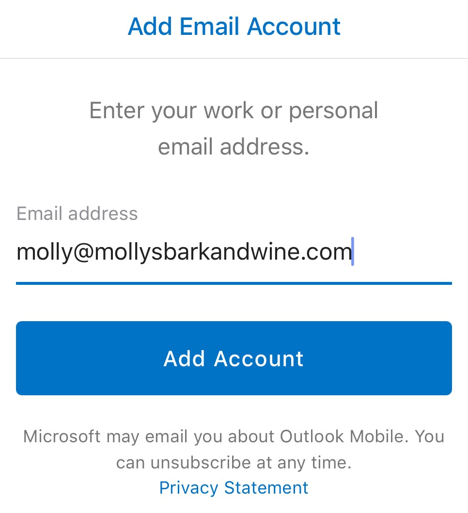 how to connect business email to outlook