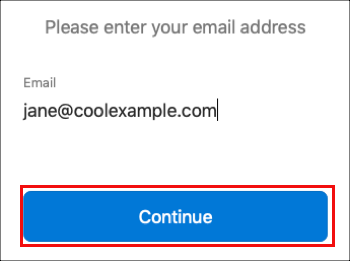 Enter your email address