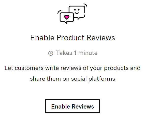 Enable Product Reviews