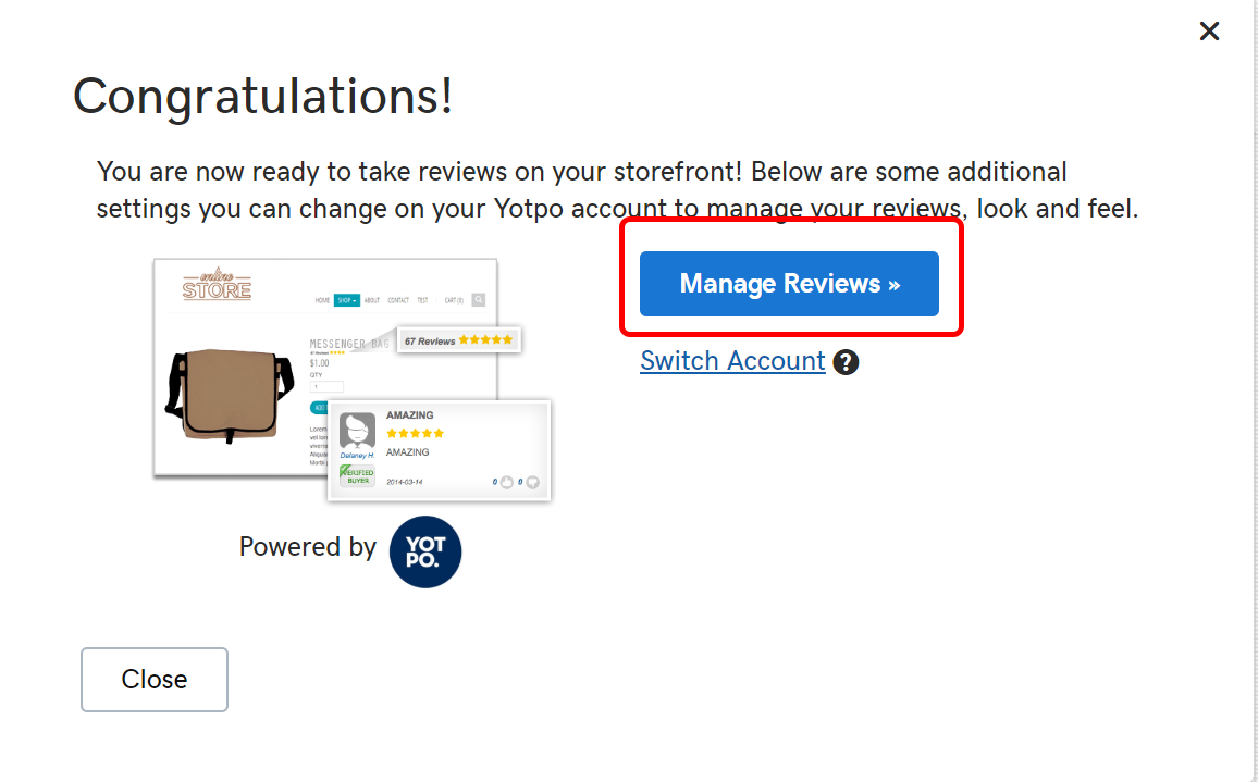 habilitar reseñas de la tienda en línea administrar reseñas