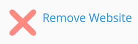 Click remove website