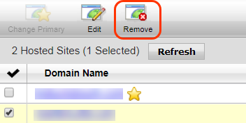 Remove a secondary domain on your hosting account