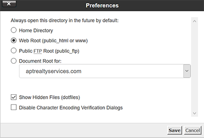 Select preferences