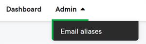 Click email aliases