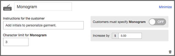 Puedes ingresar instrucciones específicas para los clientes.