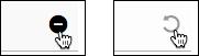 Haz clic en el signo menos para ocultar un artículo o la flecha con sentido antihorario para volver a mostrarlo.