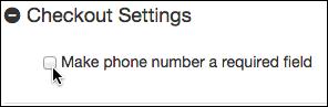 Selecciona Hacer que el número de teléfono sea un campo obligatorio