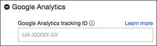 Usa el campo Google Analytics para activar tu ID
