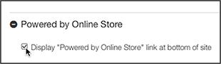 Desmarca el cuadro Desarrollado por la Tienda en línea