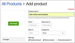 Usa los campos Agregar producto para ingresar el nombre y precio de un producto