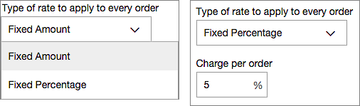 Choose a rate type, then enter charge
