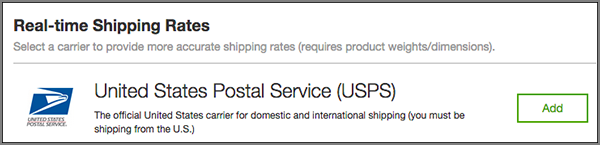Choose a Real-time Shipping Option