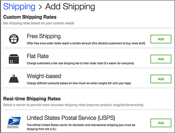 Choose your shipping method