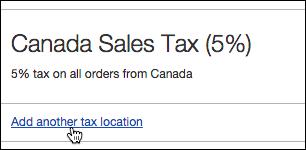 Haz clic en Agregar otro impuesto para un lugar