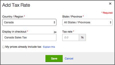 Selecciona el País/Región y establece el Estado/Provincia para todos.