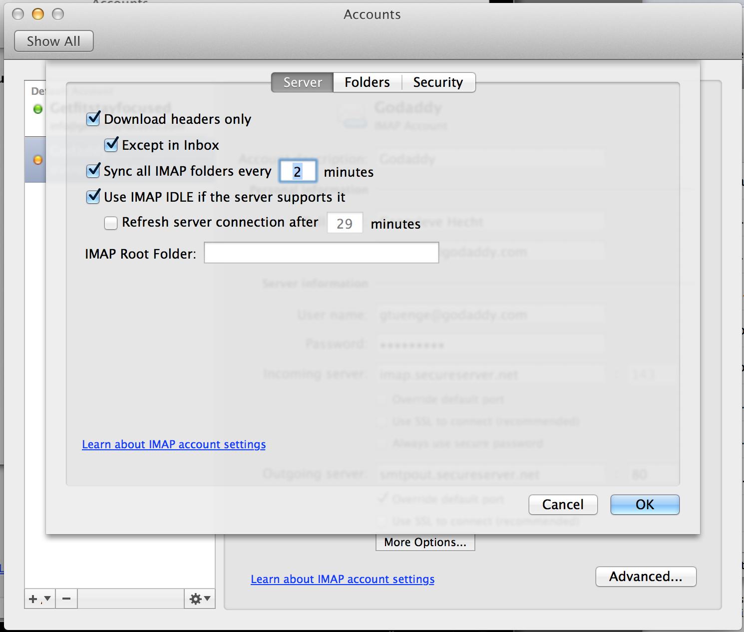 Outlook 2011 para Mac: Como configurar emails | Workspace