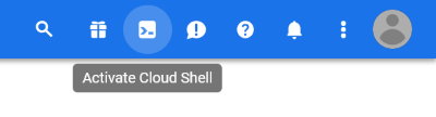 Activate Cloud Shell (Cloud Shell aktivieren)