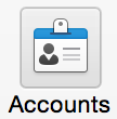 Click Accounts button