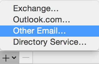 Click the + menu, select Other Email