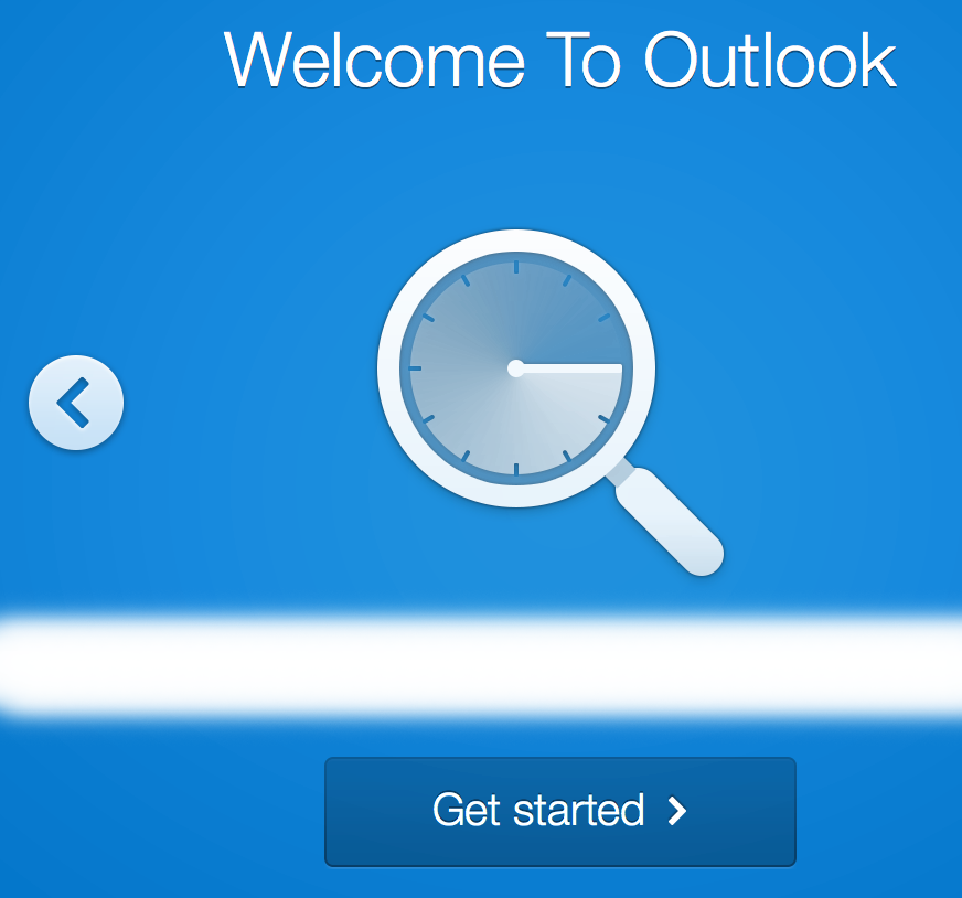 Second Outlook intro screen