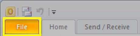 Κάντε κλικ στην καρτέλα File (Αρχείο)