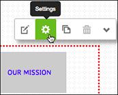 Kliknij panel nawigacji (bez klikania łączy) iwybierz Ustawienia.