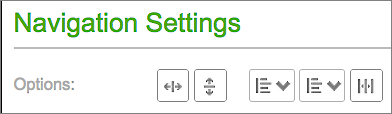 Use Options section to set menu's orientation, alignment and spacing.