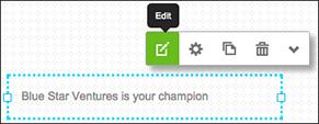 Klikk på Rediger for å vise tekstredigeringsprogrammet.
