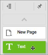 Dra Tekst-verktøyet inn på siden.