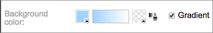 Du kan bruke Bakgrunnsfarge-delen for å angi en primær boksfarge, eller blande den med en farge nummer to.