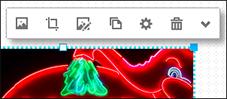 Щелкните изображение, чтобы открыть панель инструментов изображения.
