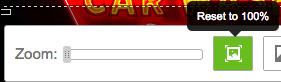 要取消圖像縮放,請使用「縮放」側邊欄,不要使用旁邊的「重設」按鈕。