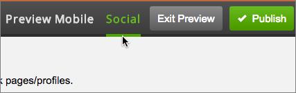 Skift til Forhåndsvisning og klik på fanen Social.