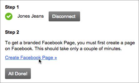 Se non lo hai già fatto, crea una pagina Facebook Business