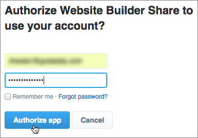 Masuklah dan klik Otorisasi aplikasi.