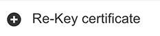 Cambia la clave de certificado