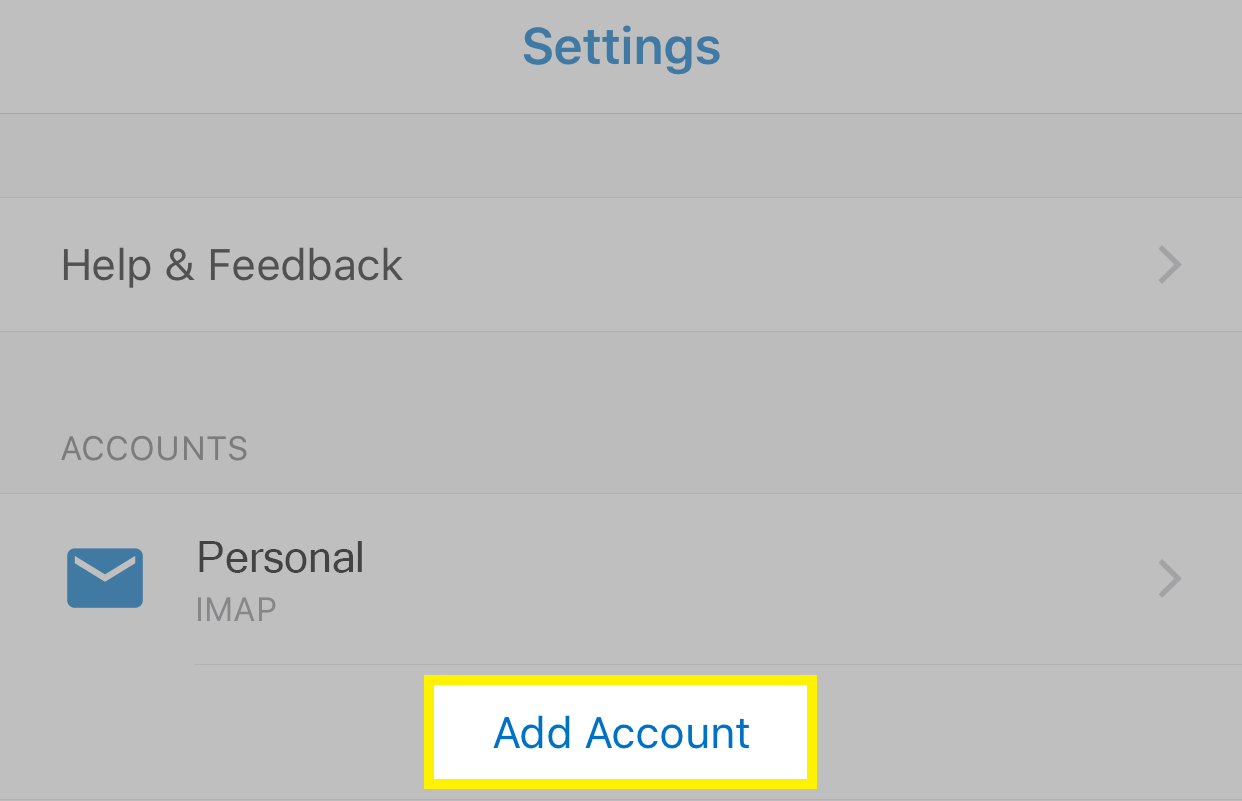Tap Add Account