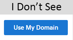 i do not see use my domain