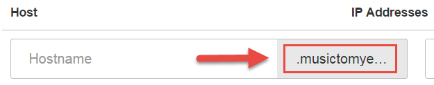 Domain auto populates