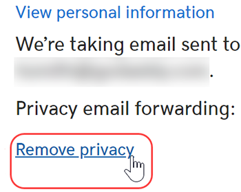 click to remove privacy