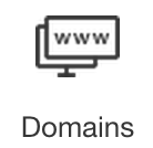 In your Wix account, under Account Shortcuts, click Domains.