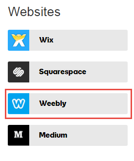 Click on Weebly