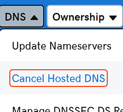 cancel hosted dns