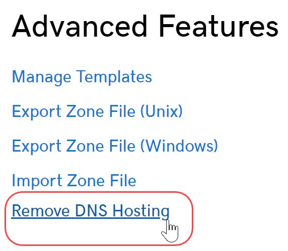 click add dns hosting