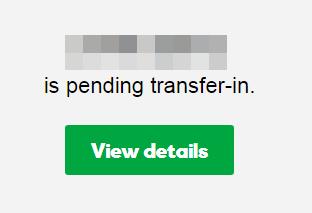 İçeri transfer durumu kartı
