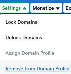 remove domain profile