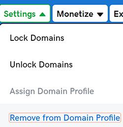 domeinprofiel verwijderen