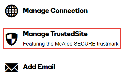 Manage Trusted Site