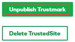 TrustedSite-merkinnän poistaminen näkyvistä