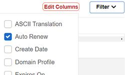 assign domain profile